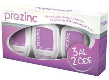 Prozınc PROZINC Normal ve Yağlı Saçlar İçin Şampuan 300 ml - 3 AL 2 ÖDE (Mor Set) Renksiz